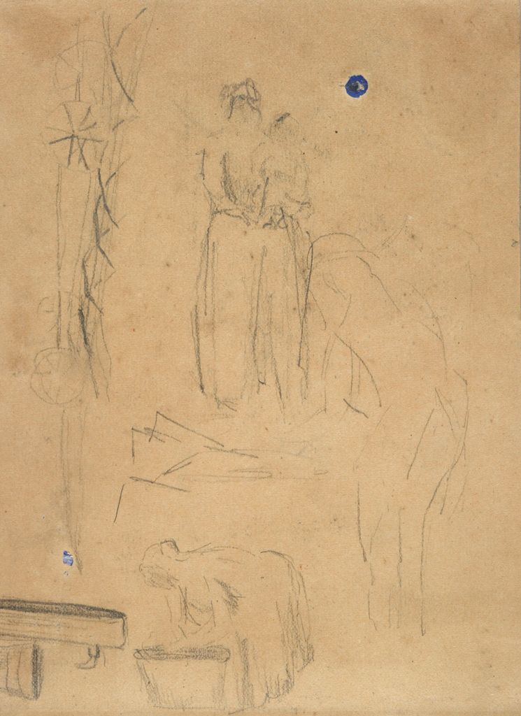 Blank Page; Verso: Figure Studies; Water Pump