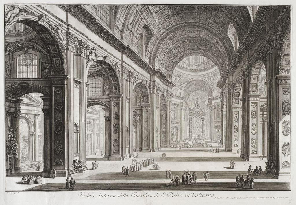 View Of The Interior Of The Basilica Of Saint Peter At The Vatican