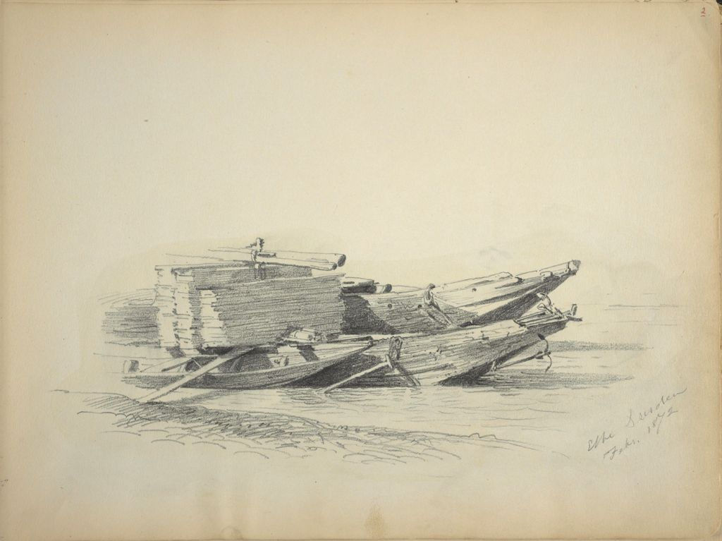 Sketch Of Small Boats