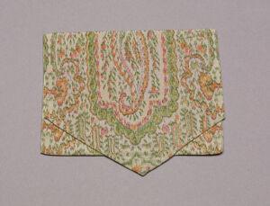 Cloth enclosure (pocketbook), front, closed circa 1755 Digital Object