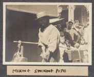 Work 9 of 63 Title: Meking [i.e. Making] smoking pipe Creator: Stillman, E. G. Date: 1905?