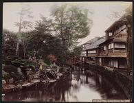 Work 17 of 52 Title: Ogiya (tea house) garden Oji, Tokio Creator: Kajima, Seibei Date: ca. 1890