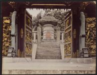 Work 26 of 52 Title: Middle gate and treasure tower at the to... Creator: Attributed to Kusakabe, Kimbei Date: ca. 1890
