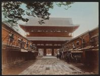 Work 33 of 52 Title: Temple gate, Asakusa, Tokyo Date: ca. 1890