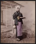 Work 5 of 53 Title: Woman holding tea set Date: ca. 1890