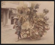 Work 10 of 53 Title: Peddler with cart full of bamboo baskets... Creator: Enami, T. Date: ca. 1895