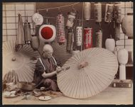 Work 11 of 53 Title: Paper lantern and umbrella maker Date: ca. 1890