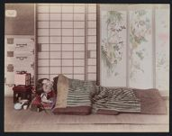 Work 14 of 53 Title: Woman and child sleeping, folding screen... Date: ca. 1890