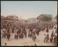 Work 50 of 53 Title: Large crowd on street, possibly celebrat... Date: ca. 1890