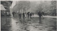 A Wet Day On The Boulevard - Paris