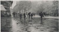 A Wet Day On The Boulevard - Paris
