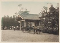 Work 3 of 22 Title: Main entrance to the house seen from the... Creator: Ogawa, Kazumasa Date: 1898