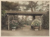 Work 20 of 22 Title: Temporary rustic gate at the west end of... Creator: Ogawa, Kazumasa Date: 1898