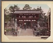 Work 8 of 29 Title: Gion temple gate, Kioto Creator: Kajima, Seibei Date: ca. 1890