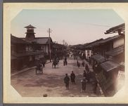 Work 20 of 29 Title: Street scene, Kyoto Date: ca. 1890