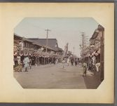 Work 5 of 50 Title: Yokohama street scene Date: ca. 1895