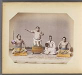 Work 16 of 50 Title: Sumo wrestler and referee Date: ca. 1885