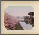 Work 30 of 50 Title: Cherry trees and bridge crossing Benkei ... Date: ca. 1890