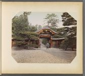 Work 31 of 50 Title: Gateway [to] tomb of 6th shogun, Shiba Creator: Kusakabe, Kimbei Date: ca. 1885