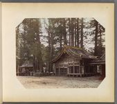 Work 33 of 50 Title: Nikko, stable for sacred horse, monkeys ... Date: 188-?