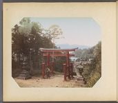 Work 40 of 50 Title: Torii on Tokaido [road] near Hakone Date: ca. 1890