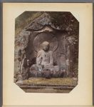 Work 42 of 50 Title: Stone Buddha statue carved on rock at fo... Date: ca. 1890