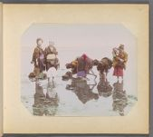 Work 47 of 50 Title: Japanese women harvesting shellfish Date: ca. 1890