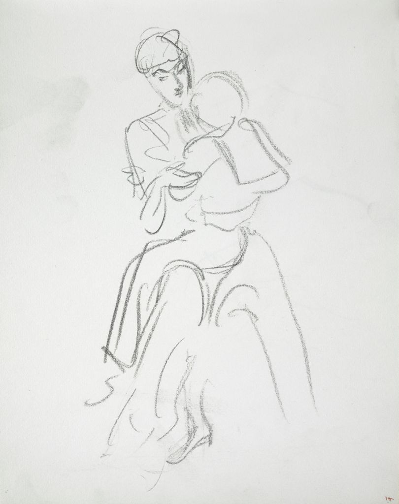 Seated Woman Holding A Child