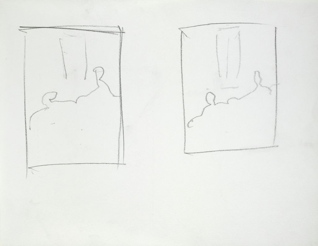 Blank Page; Verso: Two Compositional Studies For