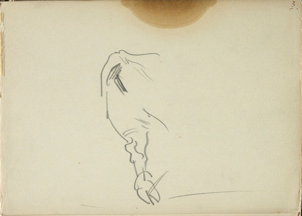 Sketch Of An Ox's Leg; Verso: Sketch Of An Ox In A Harness