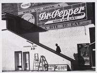 Negro Using Outside Colored Stairway To Enter Movie Theatre, Belzoni, Missisissippi