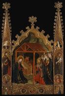 Nativity Scene with Saints
