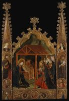 Nativity Scene With Saints