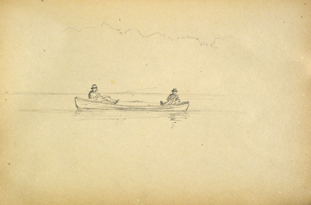 Men Fishing From Boats, Lake Mooselucmaguntic, Maine