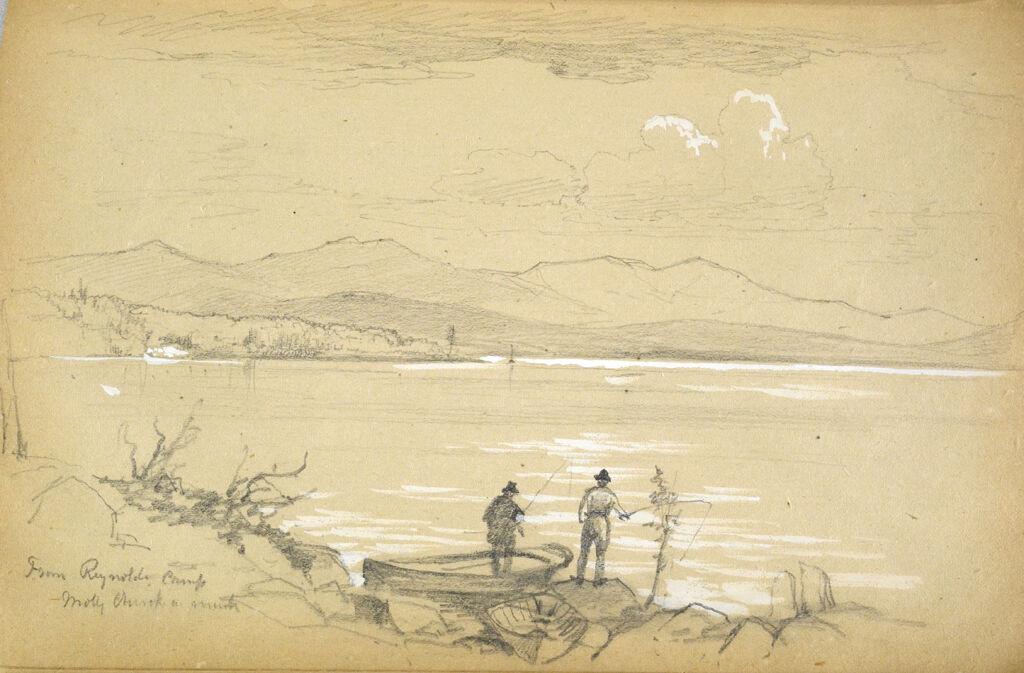 Men Fishing, Lake Molly Chunk-A-Muuk, Maine