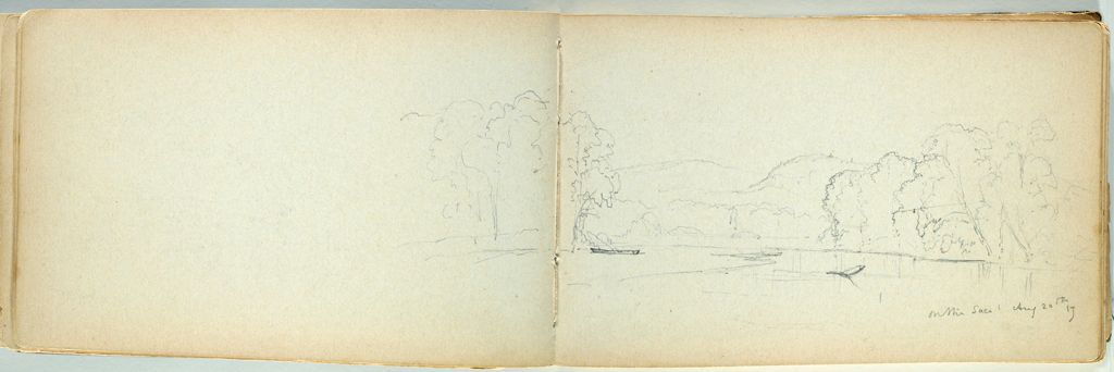 Partial Landscape With Saco River, New Hampshire (Recto And Verso)