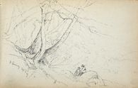 Two Figures in a Landscape, North Conway, New Hampshire; verso: blank page