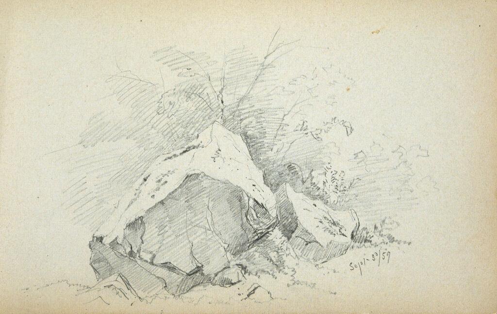 Rocks In A Landscape; Verso: Partial Landscape
