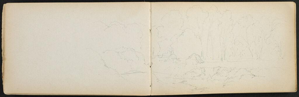 Partial Landscape; Verso: Partial Landscape With River