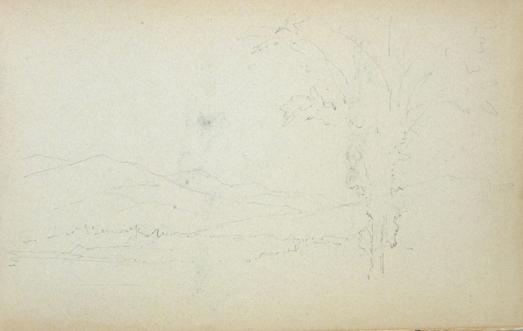 Faint Landscape; Verso: Blank Page