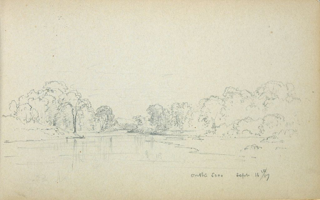 Landscape With Saco River, New Hampshire; Verso: Blank Page