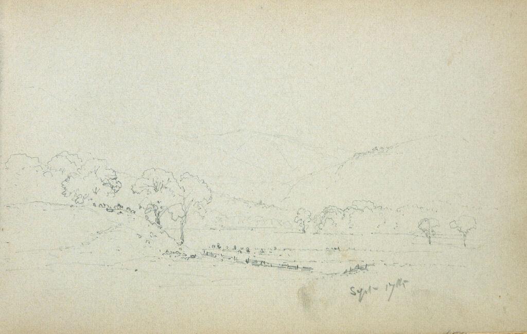 Landscape; Verso: Blank Page