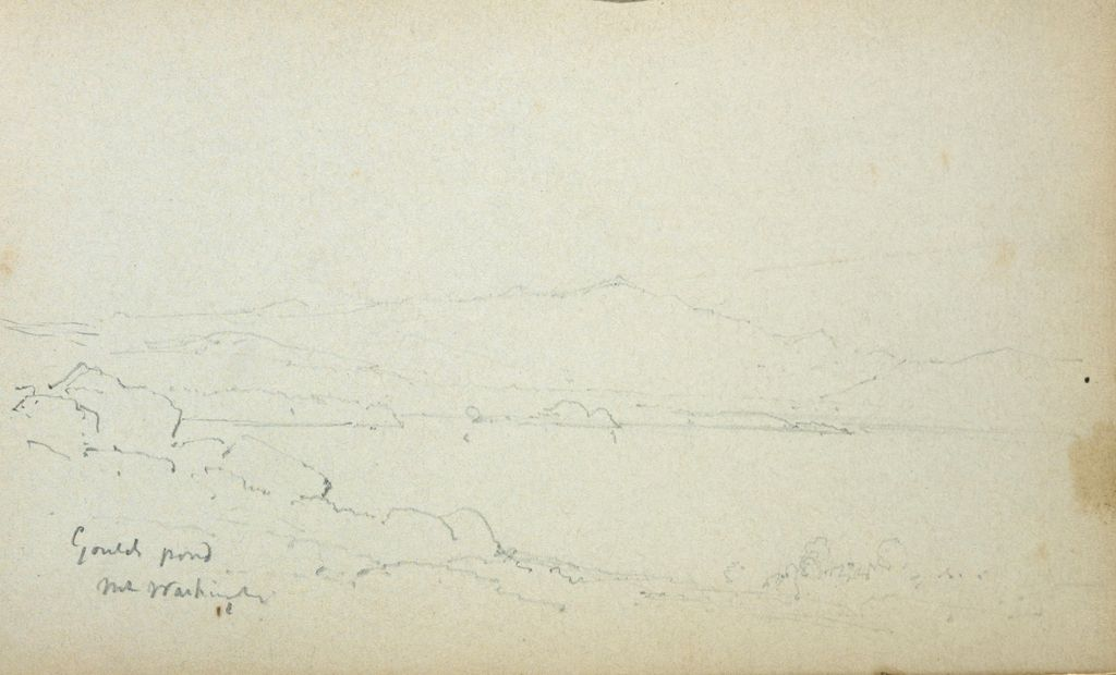 Gould Pond, New Hampshire; Verso: Blank Page