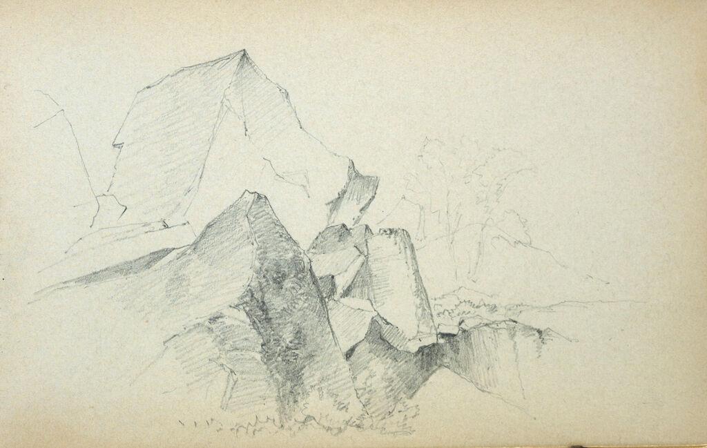 Rocks; Verso: Blank Page