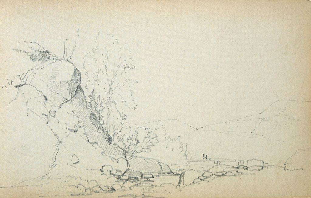 Rocky Outcropping; Verso: Blank Page