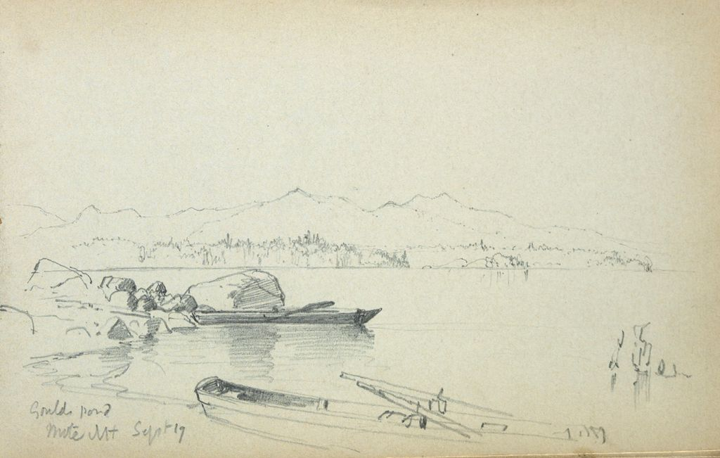 Gould Pond, New Hampshire; Verso: Partial Landscape