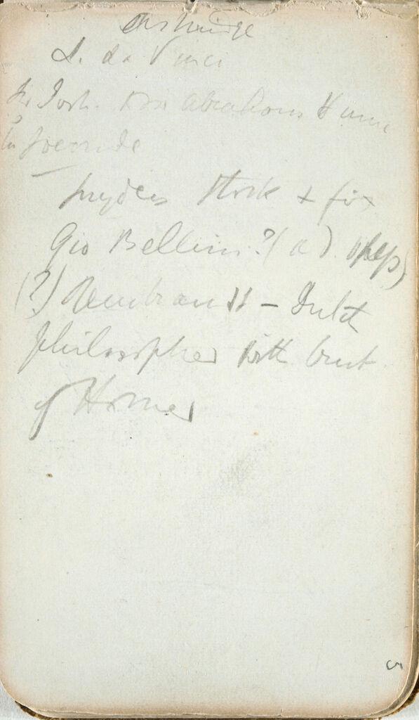 Inscription (Recto And Verso)