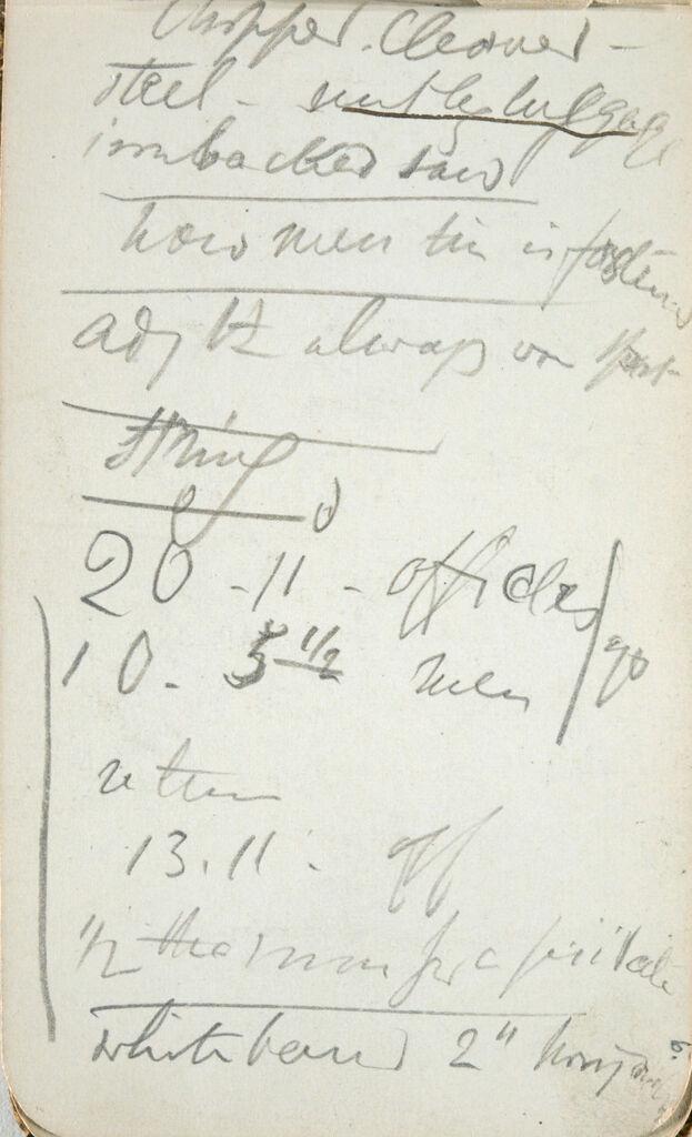 Inscription; Verso: Outline In Lunette Shape