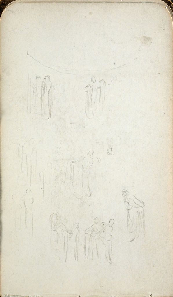 Blank Page; Verso: Figure Sketches