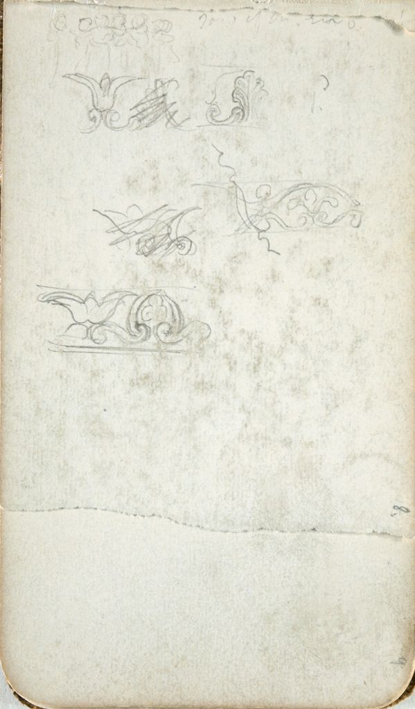 Architectural Decoration; Verso: Monumental Gate